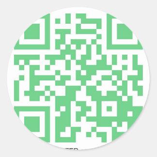 Productos de QRBlaster QRCode Etiquetas Redondas
