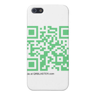 Productos de QRBlaster QRCode iPhone 5 Protectores