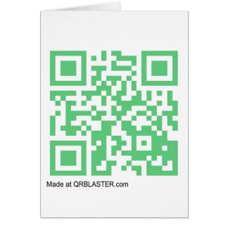 Productos de QRBlaster QRCode Tarjetas