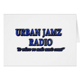 PRODUCTOS DE RADIO URBANOS DE JAMZ TARJETA DE FELICITACIÓN