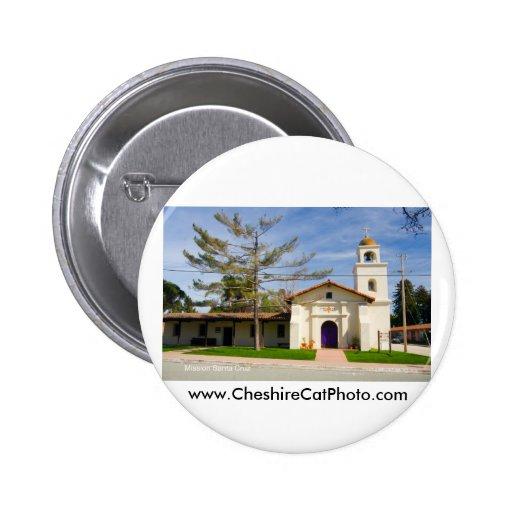 Productos de Santa Cruz California de la misión Pin Redondo 5 Cm