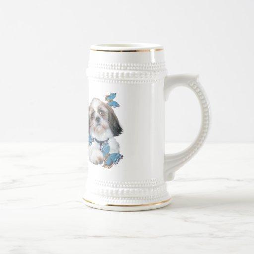 Productos de Shih Tzu y de las mariposas Tazas De Café