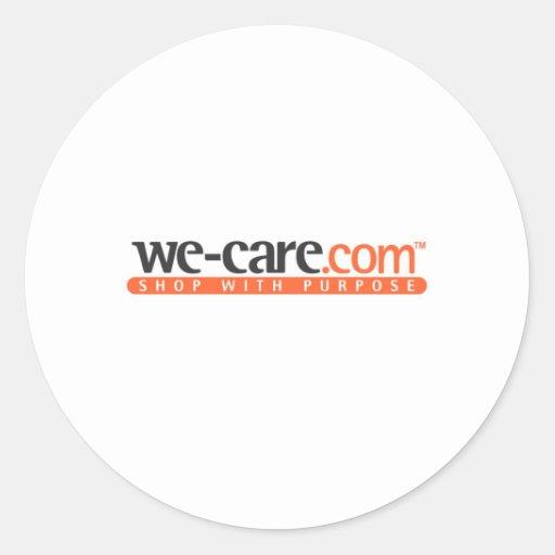 productos de We-Care.com Pegatina Redonda