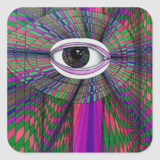 Productos del arte del diseñador del ojo del pegatina cuadrada