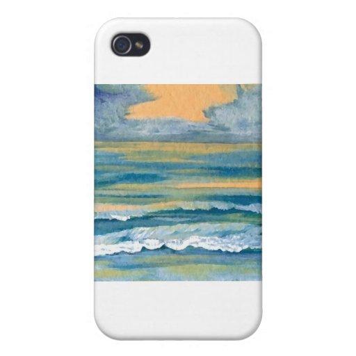 Productos del arte del mar cósmico - océano de Cri iPhone 4 Carcasa