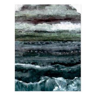 Productos del arte del mar magnífico - océano de postal