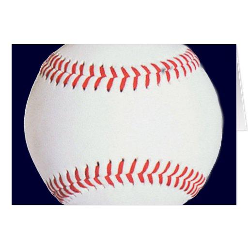 Productos del béisbol tarjeta de felicitación