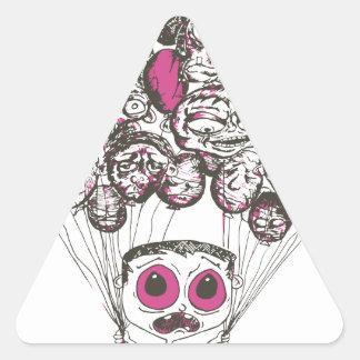 Productos del bosquejo del globo pegatina triangular