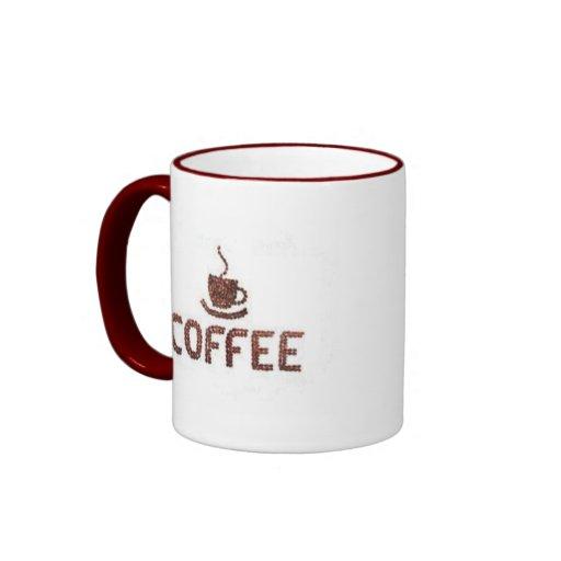 Productos del café taza a dos colores