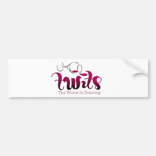 Productos del club del vino de los TWITs Etiqueta De Parachoque