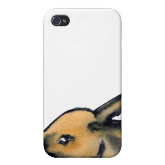 Productos del conejo de conejito - arte de Cricket iPhone 4 Protector
