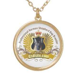 Productos del criador de perros y del dueño del pa colgante redondo