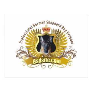 Productos del criador de perros y del dueño del postales