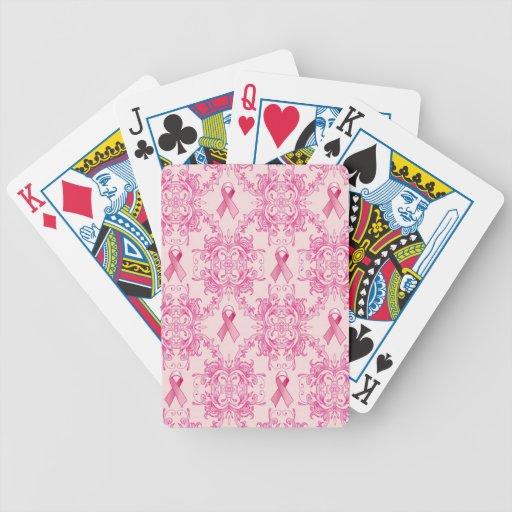 Productos del damasco de la cinta del cáncer de pe baraja de cartas