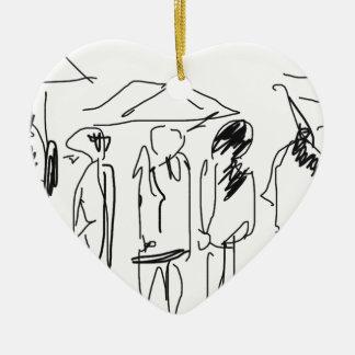 Productos del día lluvioso adorno de cerámica en forma de corazón