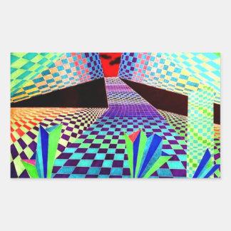 Productos del diseñador de CricketDiane Geometrix Rectangular Pegatina