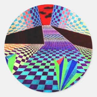 Productos del diseñador de CricketDiane Geometrix Etiquetas Redondas