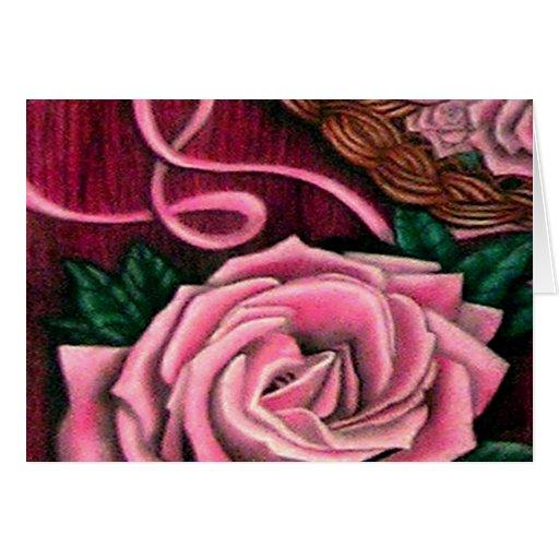Productos del diseñador de los rosas del grillo tarjeta de felicitación