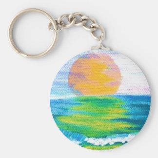 Productos del diseño del arte del océano de Cricke Llavero Redondo Tipo Pin