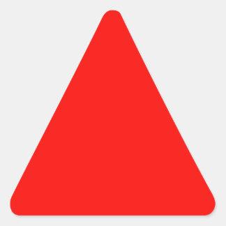 Productos del diseño del color del Rojo-Naranja Pegatina Triangular