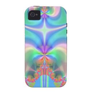 Productos del diseño del fractal iPhone 4 carcasas