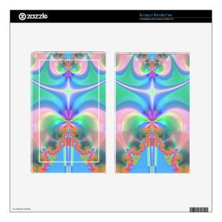 Productos del diseño del fractal kindle fire skins