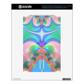 Productos del diseño del fractal calcomanías para NOOK