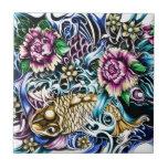 Productos del diseño del tatuaje de Koi del japoné Azulejo