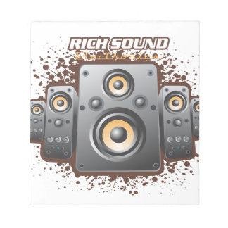 Productos del excelente sonido libreta para notas