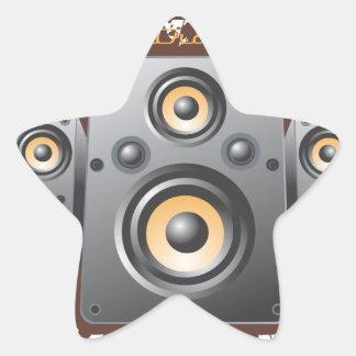 Productos del excelente sonido pegatina en forma de estrella