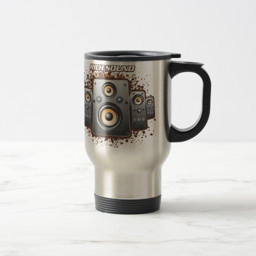 Productos del excelente sonido taza de viaje de acero inoxidable