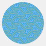 Productos del fractal etiqueta redonda