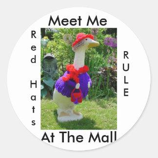 Productos del ganso de Red Hat Etiquetas Redondas