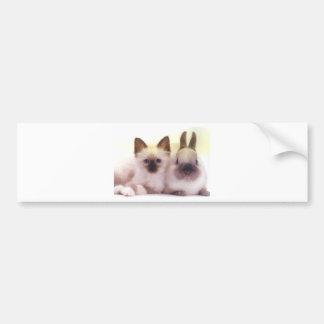 Productos del gatito y del conejito pegatina para auto