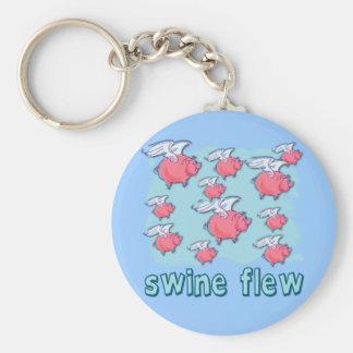 Productos del humor de la gripe de los cerdos llavero redondo tipo pin