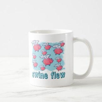 Productos del humor de la gripe de los cerdos taza básica blanca
