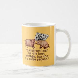 Productos del humor de la gripe de los cerdos taza clásica