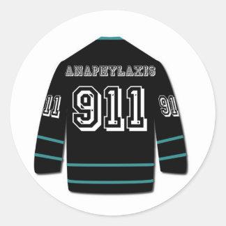Productos del jersey de la anafilasis del equipo pegatina redonda