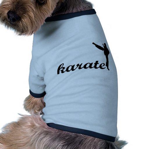 ¡Productos del karate! Camiseta De Mascota