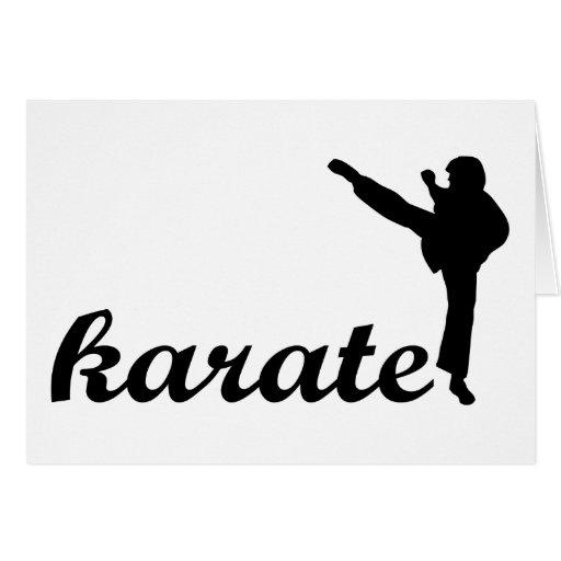 ¡Productos del karate! Tarjeta De Felicitación