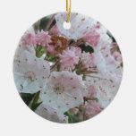 Productos del laurel de montaña adorno navideño redondo de cerámica