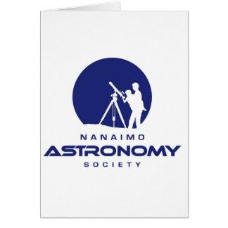 Productos del logotipo de la astronomía de Nanaimo Tarjetón