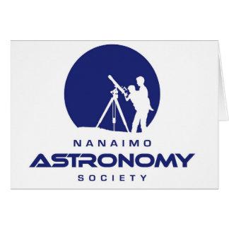 Productos del logotipo de la astronomía de Nanaimo Tarjeton