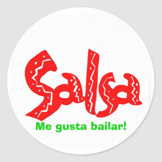 ¡Productos del logotipo de la danza de la salsa! Pegatina Redonda
