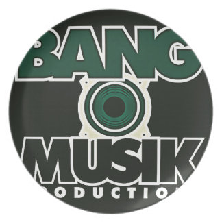 Productos del logotipo de las producciones de Musi Plato