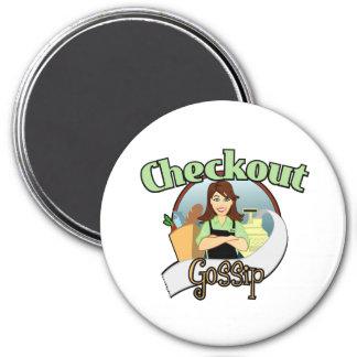 Productos del logotipo del chisme del pago y envío imán redondo 7 cm
