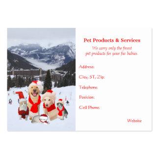 Productos del mascota y tarjetas de visita estacio