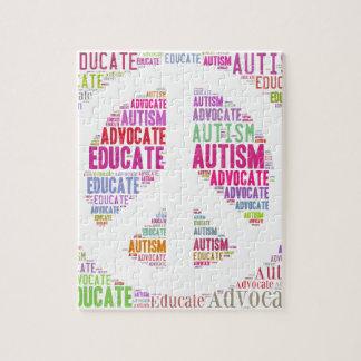 Productos del melocotón de la conciencia del autis puzzles con fotos