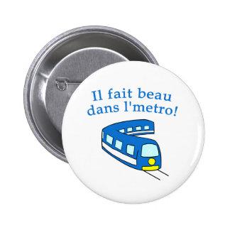 Productos del metro de Montreal de la diversión Pin