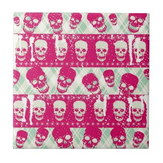 Productos del modelo del cráneo del rosa y de la v teja cerámica